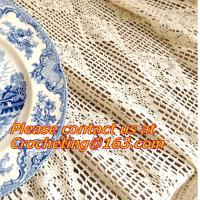 Cheap Cream-coloured Hook needle crochet bedding blanket sofa piano cover dining table cloth rus for sale