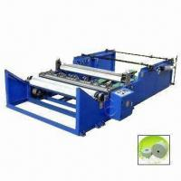 Cheap Jumbo Roll Paper Cutting and Rewinding Machine, Machine is Controlled Synchronously for sale