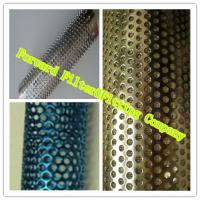 Cheap Colorful Decorative Perforated Metal Tube With Straight Weld / Round Shape for sale