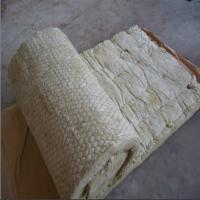 Cheap 100kg/m3 rock wool blanket,rock wool roll with GI wire mesh for tank insulation for sale