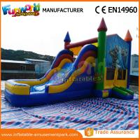 Cheap Outdoor Inflatable Combo Slide , childrens bouncy castle With Pool wholesale