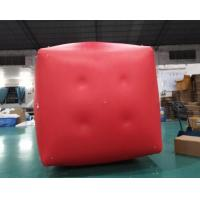Cheap Military Inflatable Swim Buoys Gunnery Practice Square Shaped Red Color for sale