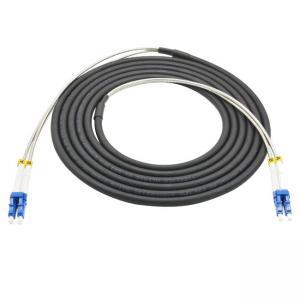 Cheap Outdoor 5G Telecom CPRI Armored Multimode OM2/OM3/OM4 Fiber Optic Duplex LC Patch Cords for sale