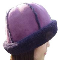 Cheap Fashion 6 Panel Cap Sheepskin Beanie Hat Lam Fur Plush Style For Winter for sale