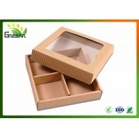 Cheap Corrugated Custom Gift Boxes for Handmade Soap with Clear Window for sale