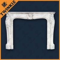 Cheap White Marble Stone Fireplace Mantel / Home Decorative Fireplace Mantel for sale