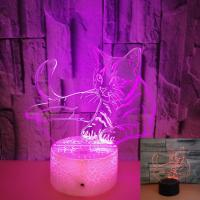 Cheap OEM animal logo Colorful 3D Volt Cat Light 3D Illusion LED Light Acrylic Visual Stereo Light Touch USB Table Lamp for sale