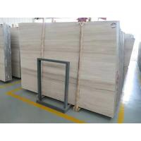 Cheap Indoor Wooden White Marble Stone With Bevelled Edge Finished for sale