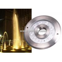 Cheap IP68 12W RGB Underwater LED Fountain Lights DC12V / 24V Stainless Steel wholesale