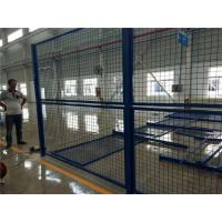 Cheap Blue Welded Metal Mesh Fencing Elegant Style Workshops / Warehouse Isolation Fence wholesale