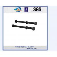 Cheap railway sleeper bolts fasteners bitumen hex railway bolt and nuts for sale