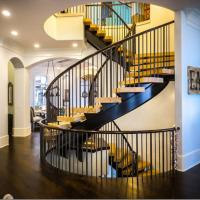 Cheap Arc Modern Wood Steel Round Staircase for sale