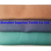 Cheap Flannel Brush Wool Polyester Outdoor Fabric 546GSM Solid Color for sale