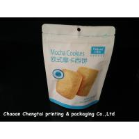 China Cookies UV Surface Stand Up Packaging Pouches With Zipper 0 - 9 Colors QS on sale