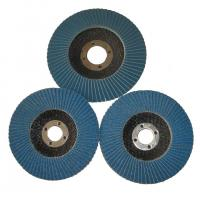 China Angle Grinder Abrasive Flap Disc Zirconia aluminium oxide Conical Sanding Disc Fiberglass on sale