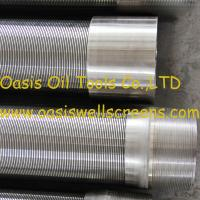 Oasis factory supplies Stainless steel 316L wire wrapped water well screens