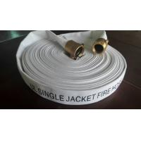 Cheap Ul 1.5 Inch Single Jacket Fire Hose , Fire Extinguisher Hose Pipe With Nst Brass Coupling for sale