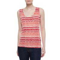 Cheap women knitting printed cashmere tank tops for sale