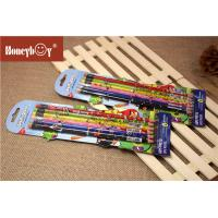 Cheap Custom Printed Shrink Film Pencil Personalized LOGO School 2B HB Lead Wooden Pencil With Eraser for sale