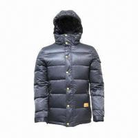 Cheap Unisex Down Jacket with Flexible Cuffs, Makes Warm in Cold Weathers for sale