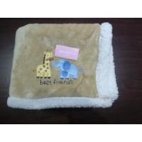 Cheap Flannel and Sherpa Baby Blanket for sale