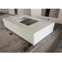 Cheap Quartz Stone Gentle White Bathroom Vanity Tops With Undermount Sink , Solid Surface for sale