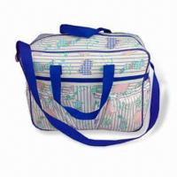 Cheap Diaper Bag, Made of Polyester, Measuring 39.5 x 13 x 28cm, Customized Designs are Welcome for sale
