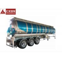 Cheap 3 Axle 42000 L Fuel Transfer Tank Trailer / Tanker Trailer Large Carrying Capacity for sale
