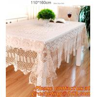 Cheap Handmade Table Cloth Crochet Table Runner Dining Party Tablecloth Lace Tablecloths For Wed for sale
