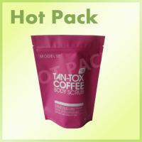 Quality Tan - Tox Coffee Body Scrob Laminated Stand Up Resealable Pouch With Ziplock wholesale