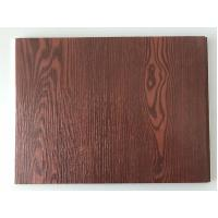Cheap Fireproof  PVC Garage Wall Panels With Wooden Lamination Width 40cm for sale