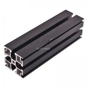 Cheap Aluminum T-slot extrusion aluminum profile black 6000 series T5 anodized for sale
