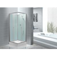Cheap Fitness Halls 800 X 800 Glass Shower Cabin With Silver Aluminum Frame for sale