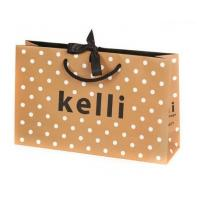Cheap Fashionable Clothes Recycled Paper Bags / 200gsm Art Paper Bag for sale
