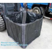 China New construction waste skip bag/pp woven jumbo big bag with liner,fibc jumbo PP woven big bag super sack for cement,PACK on sale