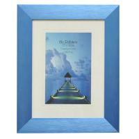 China Home Decoration Custom Retro Picture Frame MDF Backbaord Black / Blue Color on sale