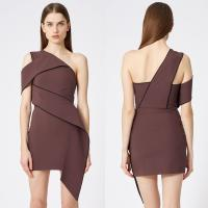 Cheap Wholesale Shoulder slope ladies formal midi dress for sale