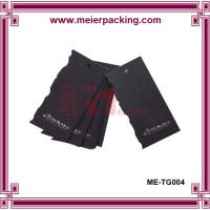 Cheap Garment,jeans,Shoes,Bags Use black garment label hang tags ME-TG004 for sale