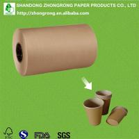 Cheap PE coated brown kraft paper for paper cup for sale