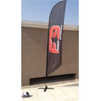 Quality Double / Single Side Printing Outdoor Advertising Sail Banners 100% 110g Polyester wholesale