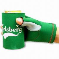 Cheap Glove Can Cooler with Flat Lock or Blind Stitching, Made of 2.5 to 4.5mm SBR + Double Polyester for sale