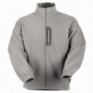 Cheap Men's Fleece Jacket with Nylon Zipper for sale