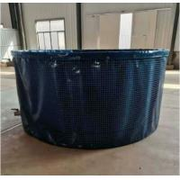 Cheap 10000L Collapsible Aquaculture Round Large Fish Farm Tank with Steel Mesh 3m (D)* 1.4m (H) for sale