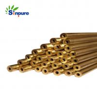 China Customized Capillary Brass Copper Tube Pipe Polishing Surface With Round End on sale