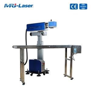Cheap 30W CO2 Flying Laser Marking Machine For Non Contact Laser Engraving for sale