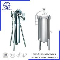 Cheap Stainless Steel Bag Filter Water Filtration Equipment , Industrial Filtration Equipment Caustic Acid Water for sale