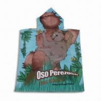 Beach Towel/Poncho for Children, Made of 100% Cotton, Various Sizes are Available