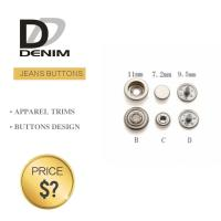 Cheap Professional Denim Metal Buttons , Tapered Pearl Snap Buttons Custom Size for sale
