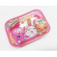 Cheap Cute & Lovely Girl Pink Vinyl Zipper Pouches , Non-toxic Clear Plastic Makeup Bag for sale
