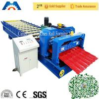 China Simens PLC control Roofing Glazed Tile Roll Forming Machine 45# Steel Roller on sale